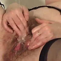 Aging and ugly mom pleases her dirty vagina with her fingers and a 'lil dildo